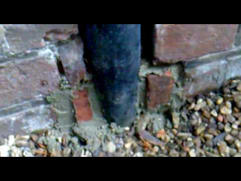 How to repair brick work and keep the rats /mice  out    Part   2
