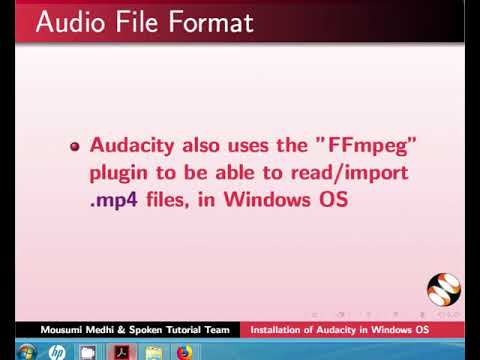 Installation of Audacity in Windows - English