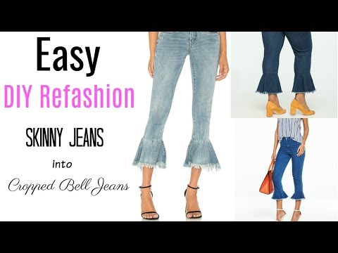 DIY Refashion: From Skinny Jeans to Flared Hem Jeans | Ty Kent