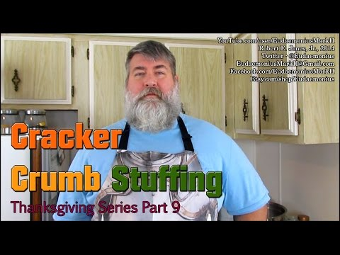 How To Make GRANDPAS CRACKER CRUMB STUFFING - Day 16,476 - Thanksgiving Series Part 9