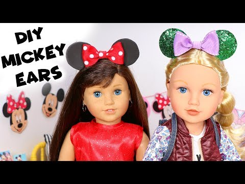 DIY American Girl Doll Mickey Mouse Ears & Hat
