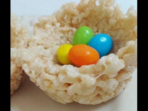 Rice Krispie Treat Bird's Nests with Bloopers!!