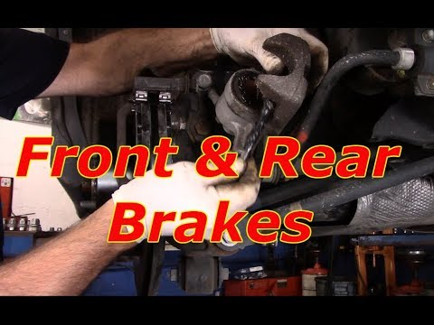 How to replace front and rear brakes & rotors 2012 Toyota Highlander