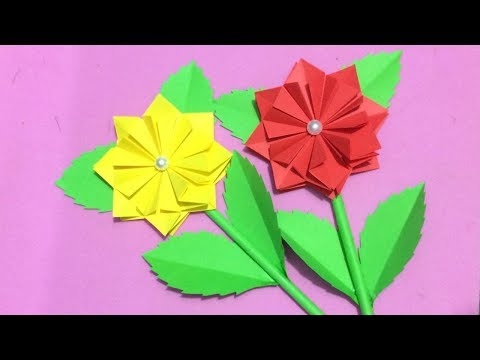 How to Make Origami Flower | Making Paper Flowers Step by Step | DIY-Paper Crafts