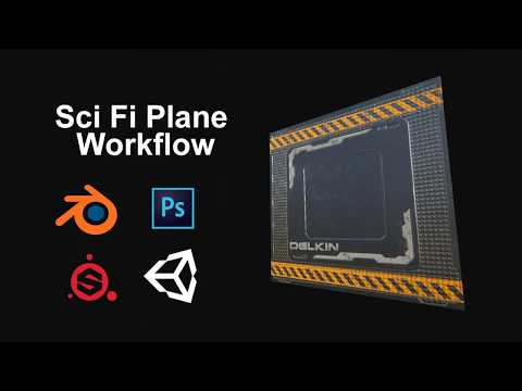 Make Sci fi plane - Blender Photoshop Substance Painter Unity5 Workflow