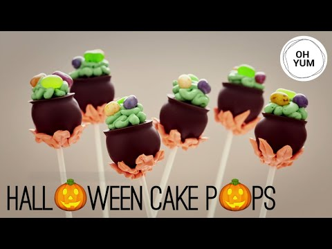Witches' Cauldron Cake Pops - Anna Olson