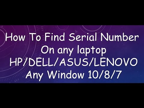 find serial number on any laptop 2017