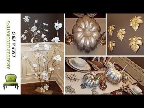 DIY Ombre Painted Pumpkins | Thanksgiving Tablescape Tour
