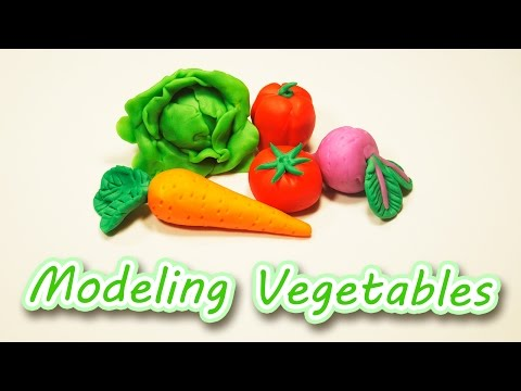 How to Make Vegetables with Modeling Clay for Kids