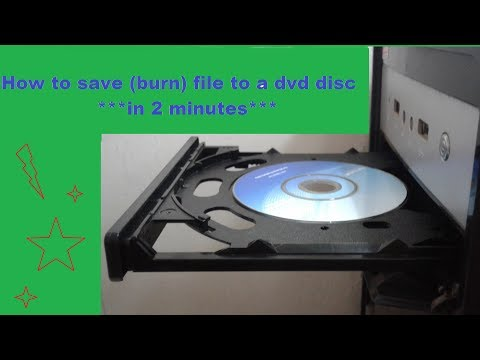 How to save (burn) file to a dvd disc in 2 minutes***