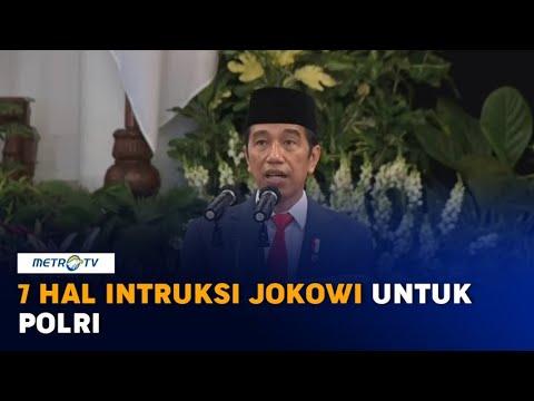 Pimpin Upacara HUT ke-74 Bhayangkara, Jokowi Instruksikan 7 Hal untuk Polri