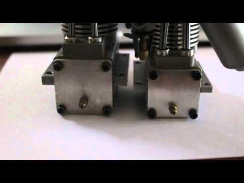 Laser model engine size comparison. Laser 61 with Laser 45.