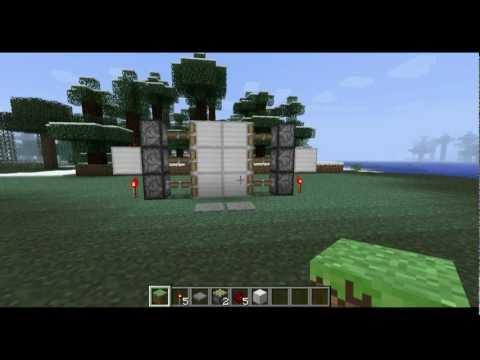 Minecraft Tutorial: 2x3 Compact Redstone Door -HD-