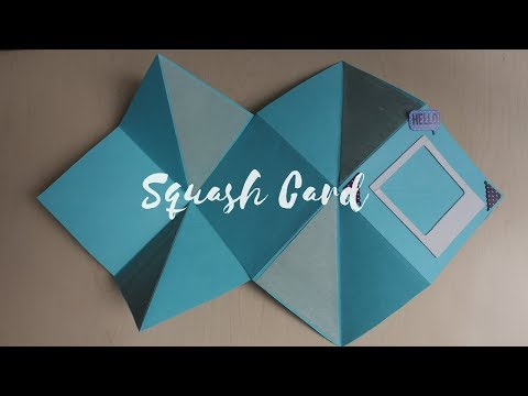 DIY: Basic Squash Card tutorial video | Easy handmade card idea for Fathers Day