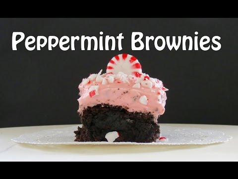 Double Chocolate Peppermint Brownies -- The Frugal Chef