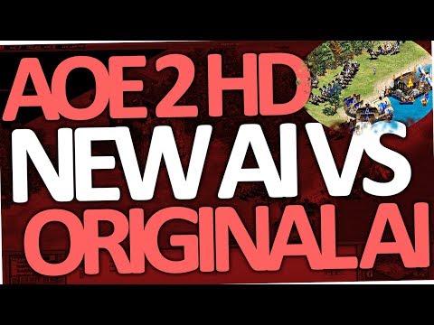 Age of Empires 2 HD AI vs Original AI (Conquerors | 1 vs 2 on Hardest Battle | AOE 2)