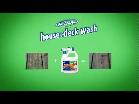 How to Clean Your Deck with Eco-Friendly Concrobium House and Deck Wash - Available in USA