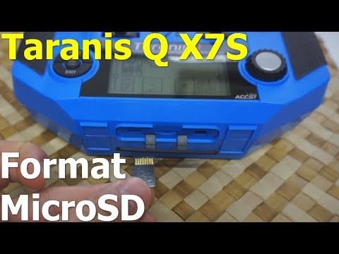How to format MicroSD memory card in FrSky Taranis Q X7S radio