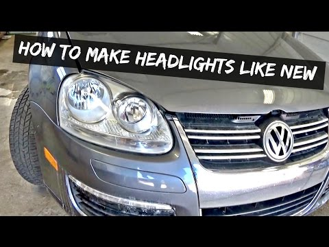 How to make headlightS shiny like NEW. Demonstrated on VW Jetta MK5