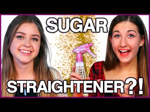 DIY Brown Sugar Hair Straightener?! - Makeup Mythbusters w/ Maybaby