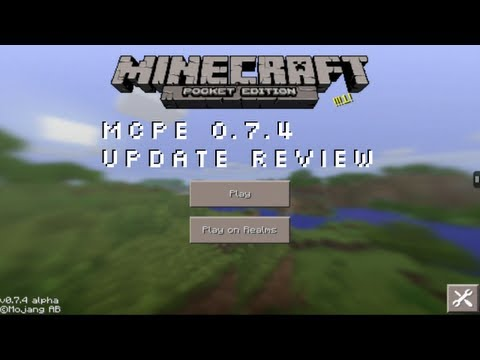Minecraft Pocket Edition 0.7.4 Update Review (Realms Update) iOS Android Kindle Fire