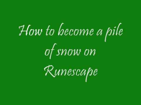 Runescape Glitch - How to be a pile of snow