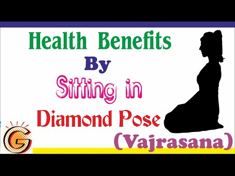 Health Benefits by sitting in Diamond Pose