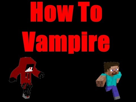 Minecraft: How to become a vampire! (on voxmc)