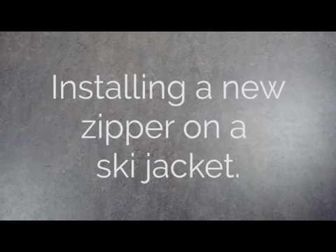 Installing a new zipper on a Ski Jacket