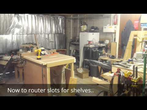Making mobile tool rack