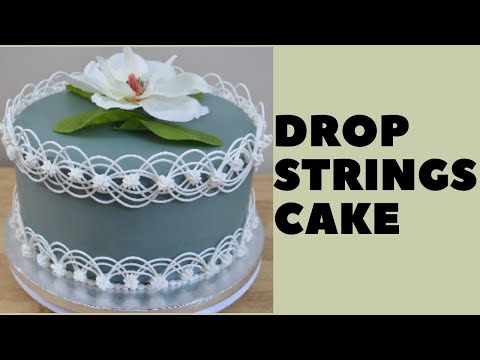Drop Strings Cake (for royal icing use 3/4 cup water, NOT 3 cups as stated in video)