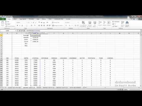 Introductory Data Analysis using Microsoft Excel