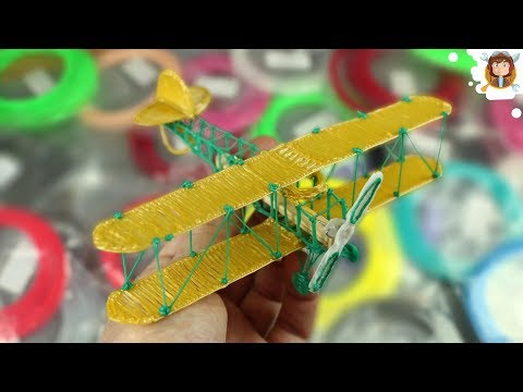10 Amazing Toys to do With a 3D Pen (Airplane / Crossbow / Bicycle )