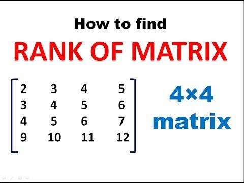 How to find Rank of Matrix || RANK OF MATRIX || MATRICES || Engineering
