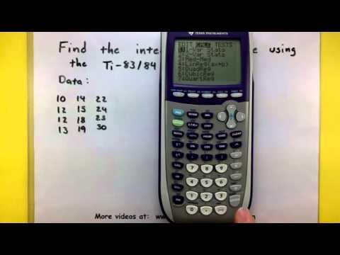 Statistics - Compute the interquartile range using the TI-83/84 calculator