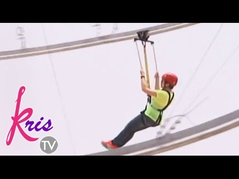 Kris rides the first ever roller coaster zipline in Asia