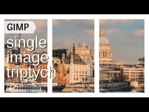 Create a Single Image Triptych in GIMP - a reusable template overlay for your photos