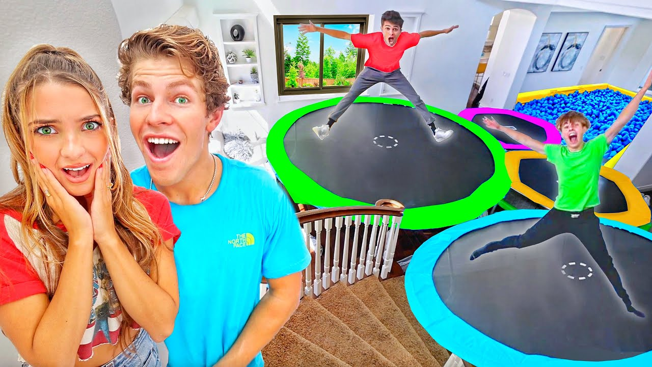 TURNING MY HOUSE INTO A TRAMPOLINE PARK!