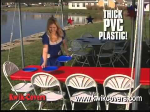Kwik Cover-Fitted Plastic Table Covers at PHP
