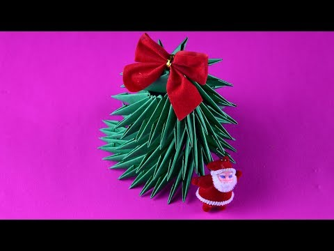 How to make Christmas tree of paper easy ☃ 3D origami tutorial DIY