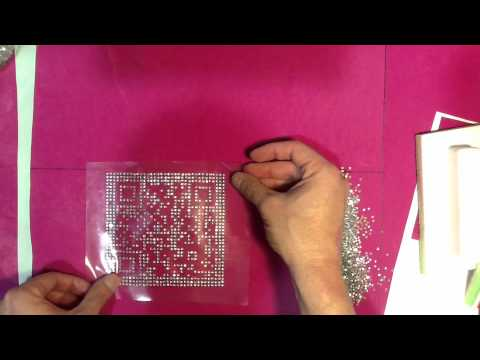 How To Make A Rhinestone QR Quick Response Code Shirts Car Decals