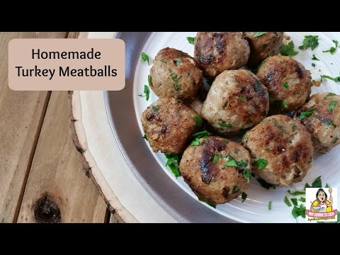 Homemade Turkey Meatballs ~ How to Make Meatballs ~ Amy Learns to Cook