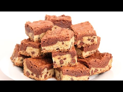 Cookie Dough Brownies Recipe - Laura Vitale - Laura in the Kitchen Episode 899