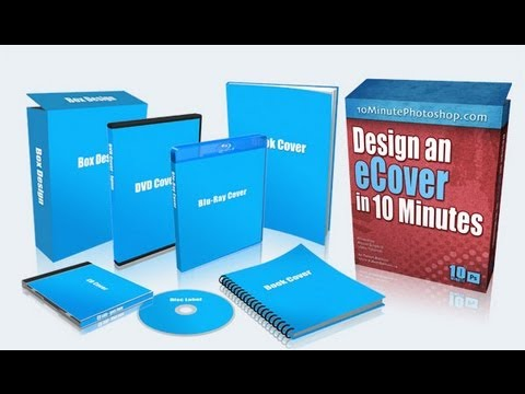 Create eBook covers and other 3D covers with Photoshop actions