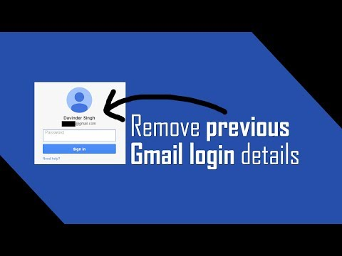 Remove old login details on Gmail Sign In page