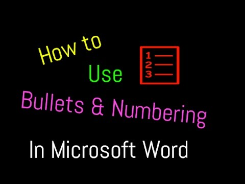 How to Insert Bullets and Numbering in MS Word : Word Tips and Tricks [Urdu / Hindi]