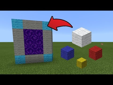 How To Make a Portal to the Rainbow Parkour Dimension in MCPE (Minecraft PE)