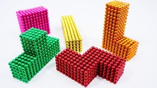 DIY - How To Make Game TETRIS With Magnetic Balls | ASMR Videos | Magnetic Game