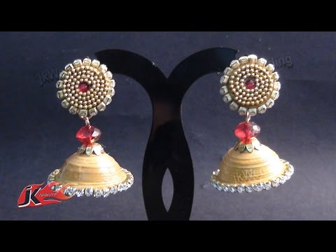 DIY Paper Quilling Jhumka and Stud | How to make | JK Wedding Craft 006