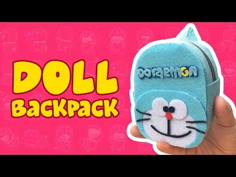 DIY Doll Accessories Backpack | How to make Mini Doreamon bag ドラえもん